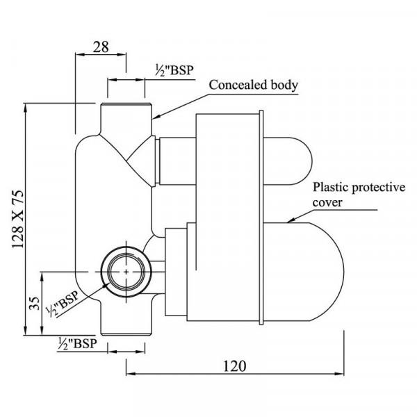 Скрытый механизм Jaquar ALD-CHR-065