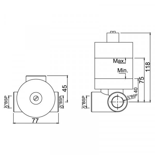 Скрытый механизм Jaquar ALD-CHR-279
