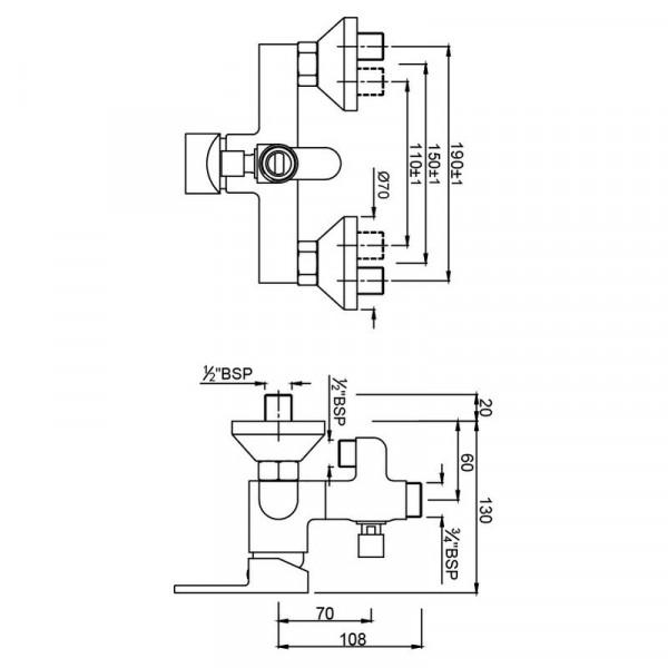 Смеситель для душа Jaquar Fusion FUS-CHR-29145