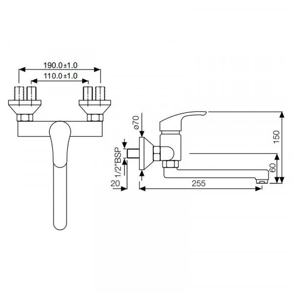 Смеситель для кухни Jaquar Eko EKO-CHR-33163
