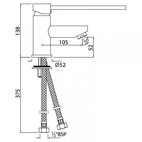Смеситель для раковины Jaquar Florentine FLR-CHR-5033B