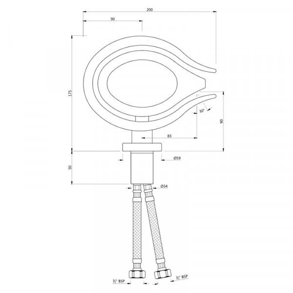 Смеситель для раковины Jaquar Tiara Artize TIA-CHR-73011B