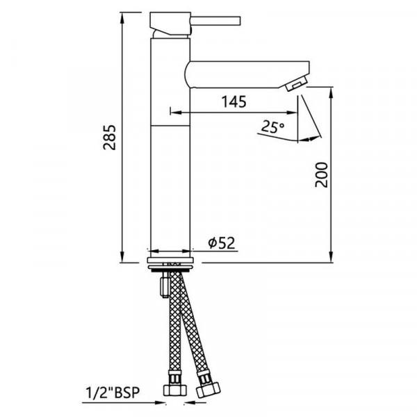 Смеситель для раковины высокий Jaquar Florentine FLR-CHR-5005NB