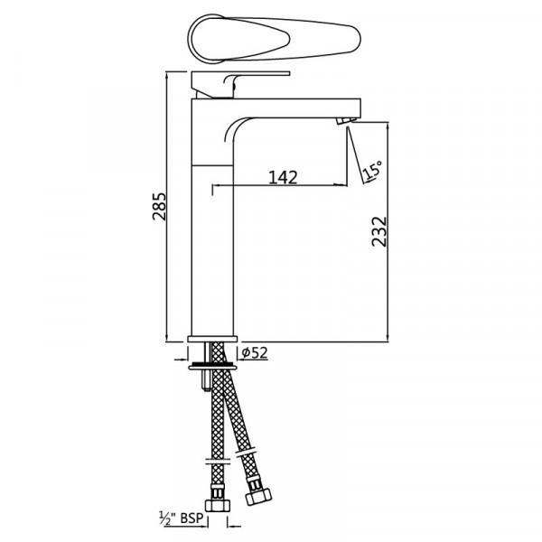 Смеситель для раковины высокий Jaquar Vignette Prime VGP-CHR-81005NB
