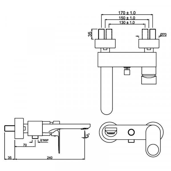 Смеситель для ванны Jaquar Ornamix Prime ORP-CHR-10119PM