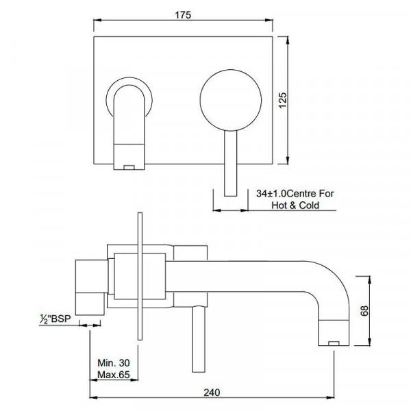 Смеситель для ванны скрытого монтажа Jaquar Florentine FLR-CHR-5135