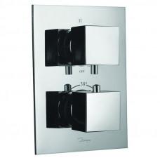 Смеситель для ванны скрытого монтажа с термостатом на 3 положения Jaquar Kubix KUB-CHR-35693