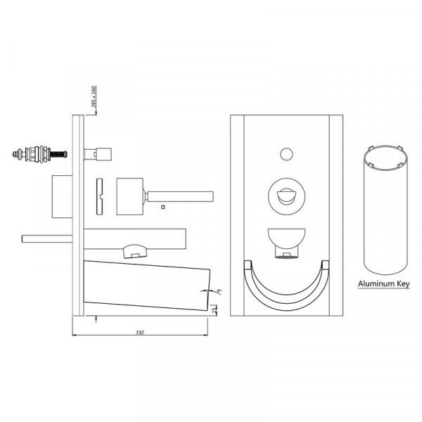 Внешнаяя часть смесителя для ванны Jaquar Confluence Artize CNF-CHR-69065K