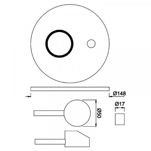 Внешняя часть смесителя для ванны Jaquar Florentine FLR-CHR-5065K