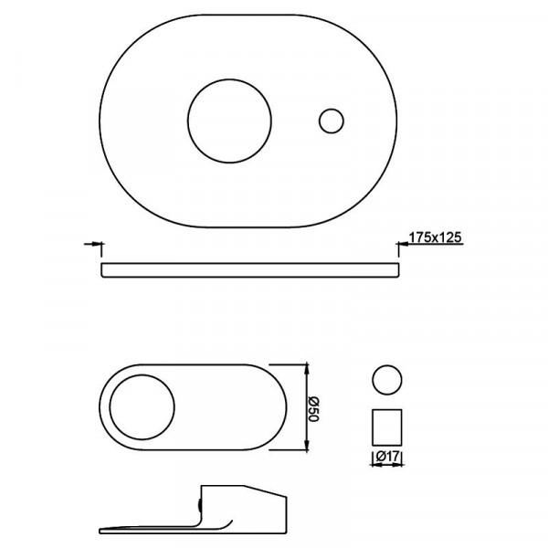 Внешняя часть смесителя для ванны Jaquar Ornamix Prime ORP-CHR-10065KPM