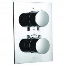 Смеситель для ванны скрытого монтажа с термостатом на 3 положения Jaquar Florentine FLR-CHR-5693