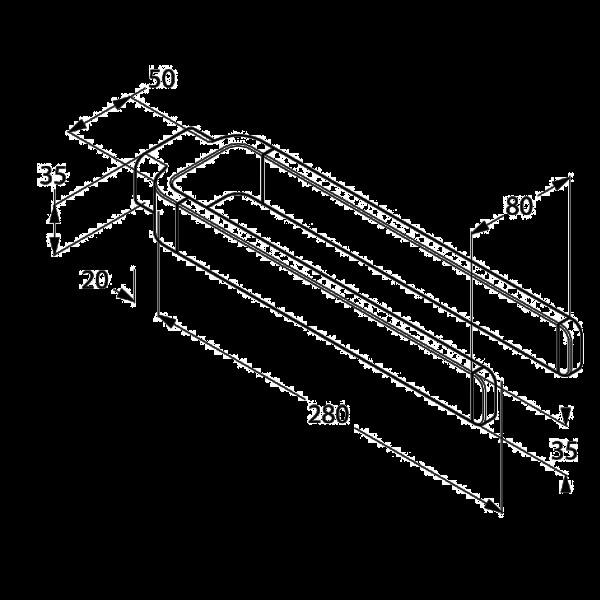 Держатель для полотенец 300 мм Kludi E2 4999005