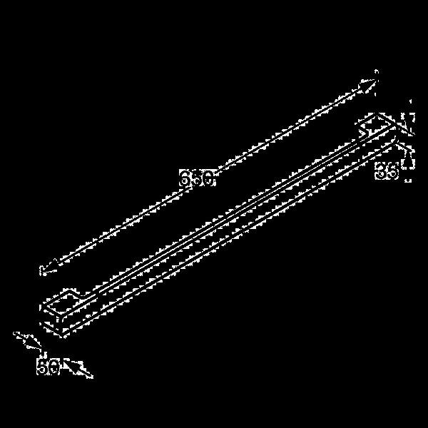 Держатель для полотенец 650 мм Kludi E2 4998005