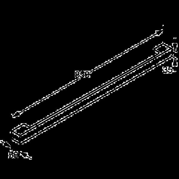 Держатель для полотенец 850 мм Kludi E2 4997905