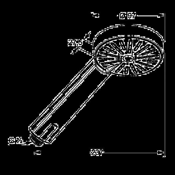 Душевая лейка эко-функцией Kludi A-QA 656000500