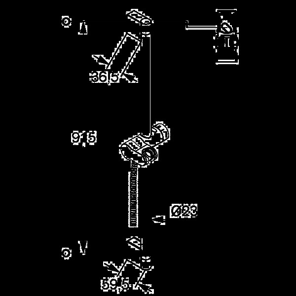 Душевая штанга 900 мм Kludi A-QA 657200500