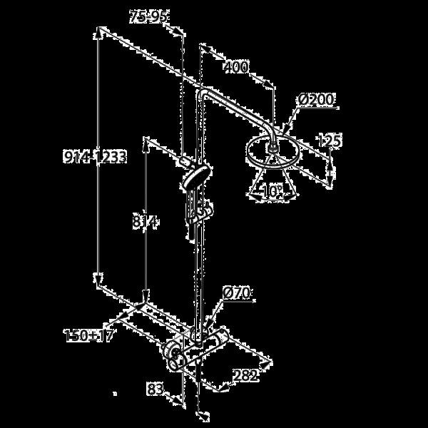 Душевая система с термостатом Kludi A-QA DUAL SHOWER SYSTEM 660950500