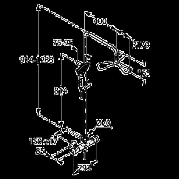 Душевая система с термостатом Kludi FIZZ DUAL SHOWER SYSTEM 670960500