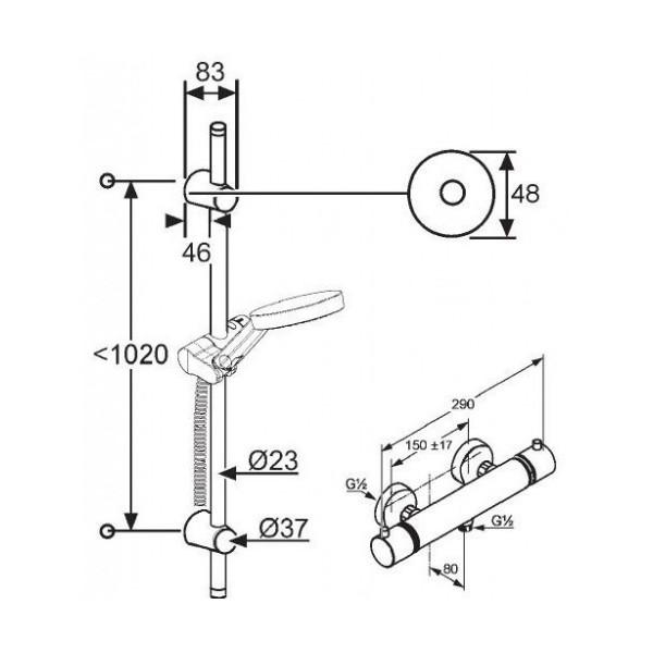 Душевой набор 2 в 1 Kludi A-QA Shower-Duo 3S 620970500