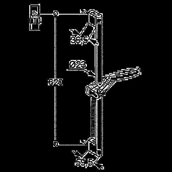 Душевой гарнитур 3S со штангой длина 600 мм Kludi A-QA 657300500