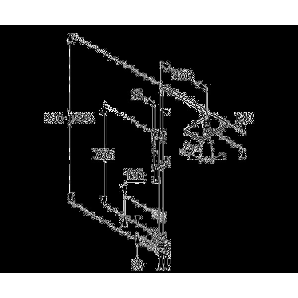 Душевой гарнитур с верхним душем Kludi A-QA DUAL SHOWER SYSTEM DUAL SHOWER SYSTEM 491910500