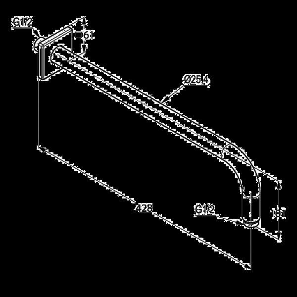 Кронштейн настенный 400 мм Kludi A-QA 665340500