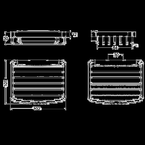 Полочка металлическая Kludi A-Xes 4898605