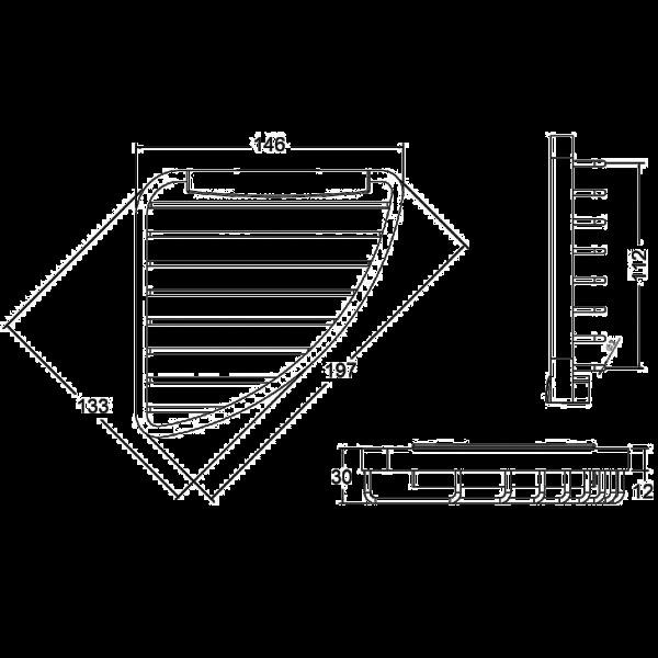 Полочка металлическая Kludi A-Xes 4898705