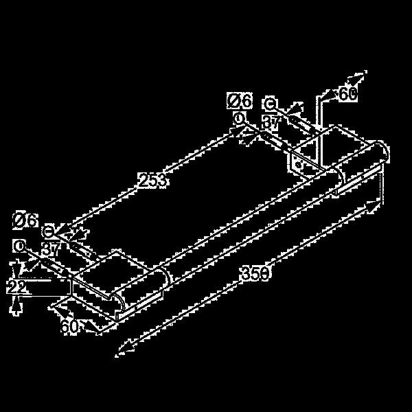Полотенцедержатель длина 350 мм Kludi A-Xes 4898105