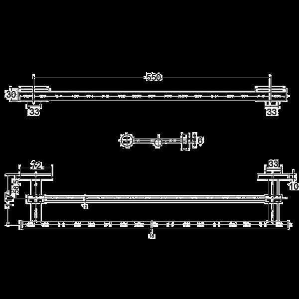 Полотенцедержатель длина 550 мм Kludi A-Xes 4898805