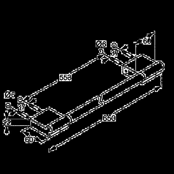 Полотенцедержатель длина 620 мм Kludi A-Xes 4898005