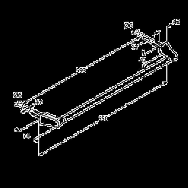 Полотенцедержатель длина 650 мм Kludi Ambienta 5398005