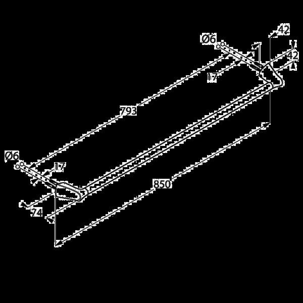 Полотенцедержатель длина 850 мм Kludi Ambienta 5397905