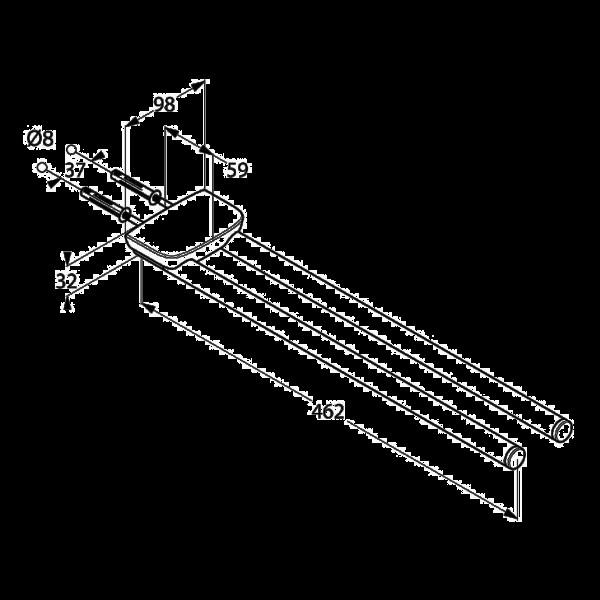 Полотенцедержатель двойной Kludi Ambienta 5397705
