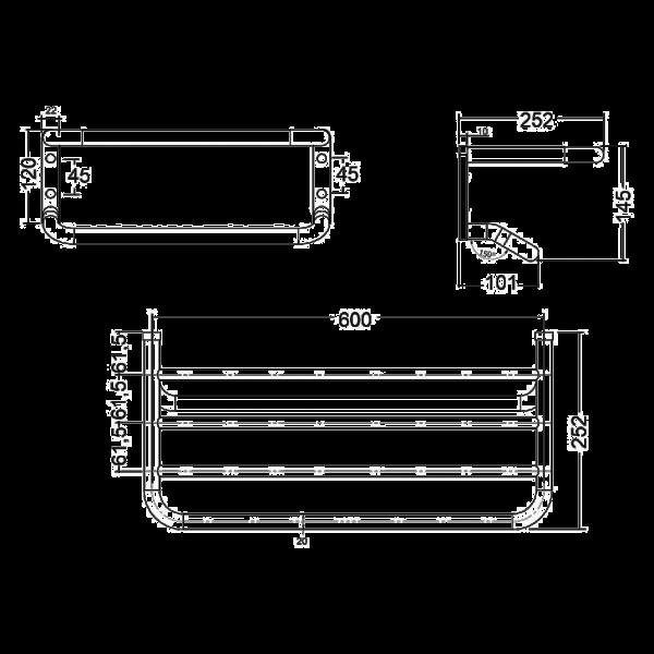 Полотенцедержатель с полочкой длина 600 мм Kludi A-Xes 4898905