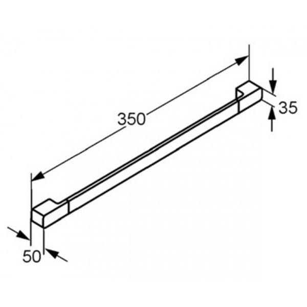 Поручень для ванны 350 мм Kludi E2 4998105