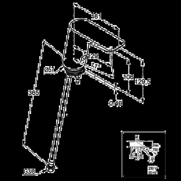 Сенсорный вентиль для раковины Kludi Balance 5220505