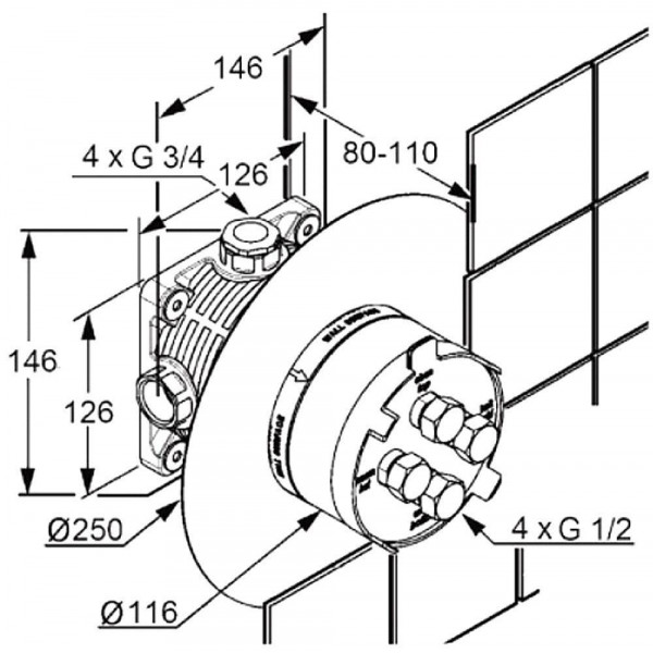 Скрытая часть Kludi Flexx.Boxx 88011