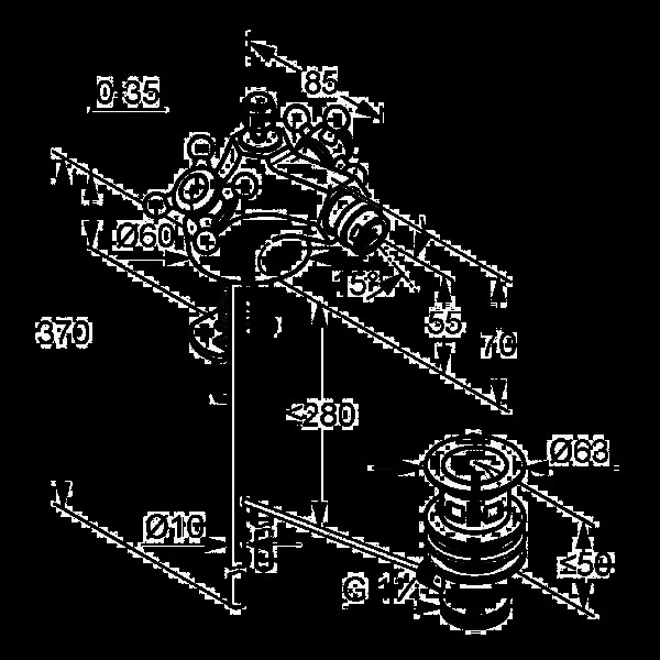 Смеситель для биде двухвентильный Kludi Adlon 512114520