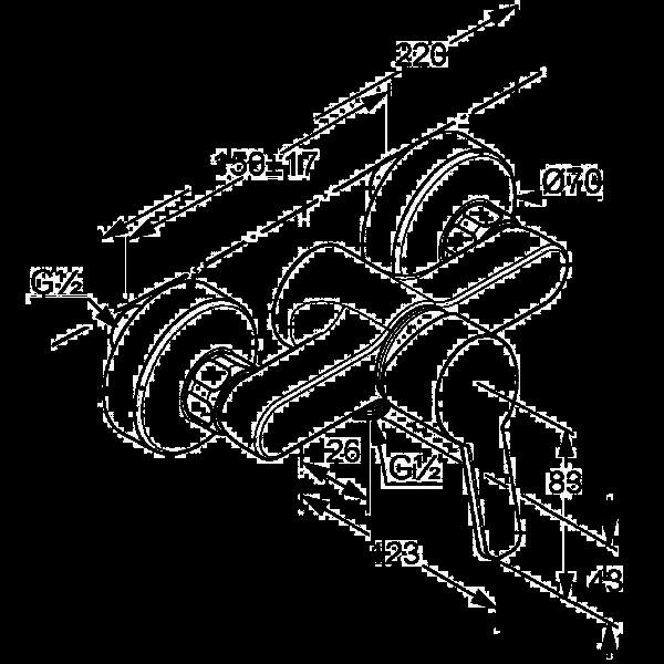 Смеситель для душа Kludi Logo Neo 378410575