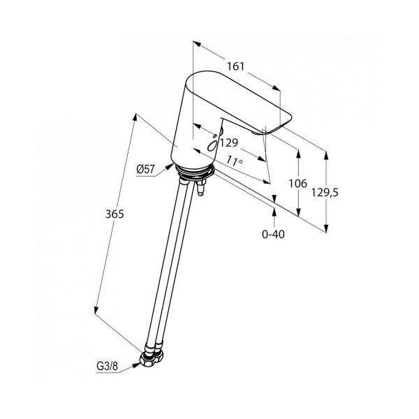 Смеситель для раковины сенсорный Kludi Balance 5210005