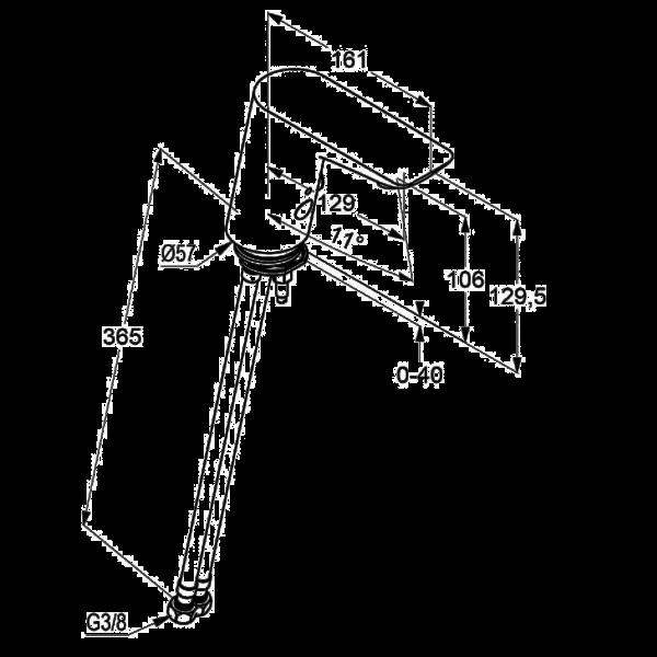 Смеситель для раковины сенсорный Kludi Balance 5210091