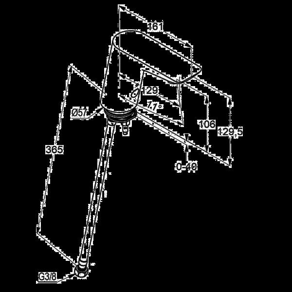 Смеситель для раковины сенсорный Kludi Balance 5210505