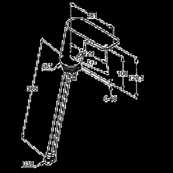 Смеситель для раковины сенсорный Kludi Balance 5220091