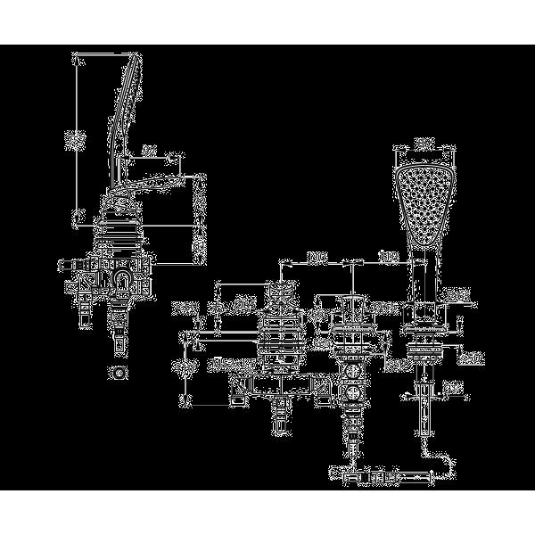 Смеситель для ванны 3 отверстия длина излива 220 мм Kludi Balance 524480575
