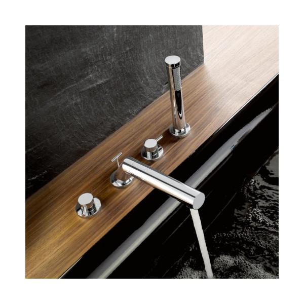 Смеситель для ванны на 4 отверстия Kludi Bozz 384240576