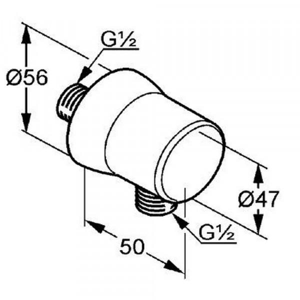 Соединение для шланга Kludi Balance 520610500