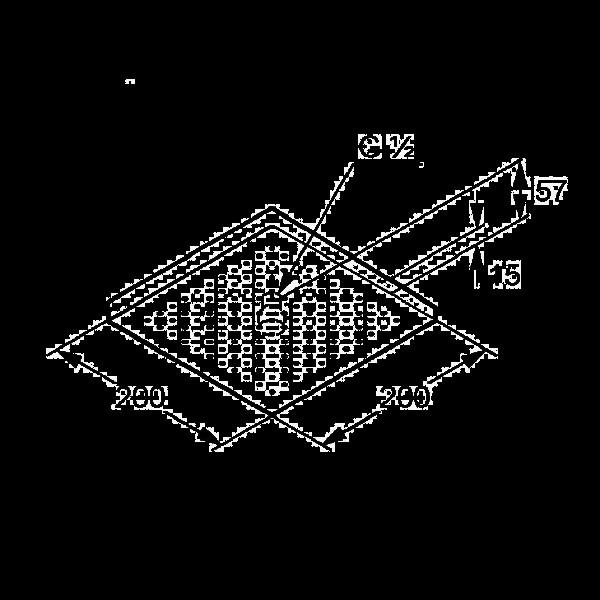 Верхний душ 200x200 мм Kludi A-QA 665300500