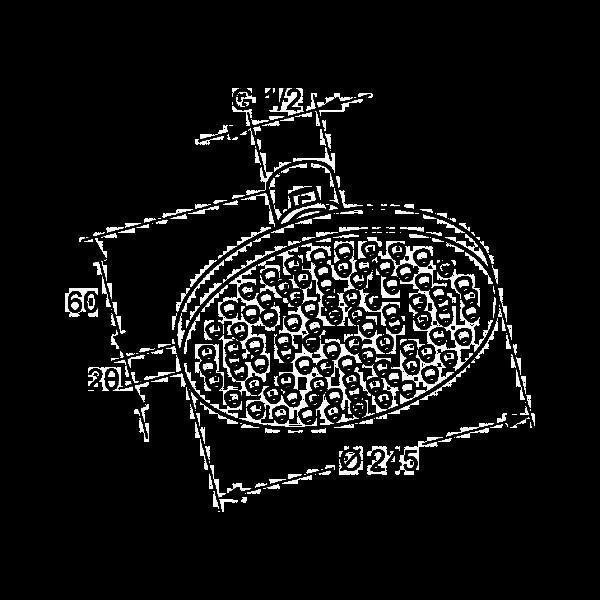 Верхний душ 250 мм Kludi A-QA 665210500