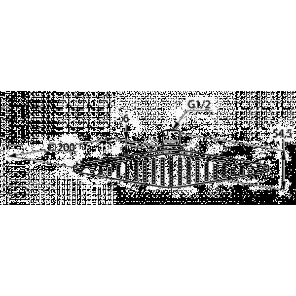 Верхний душ квадратный 200 мм Kludi A-QA 645200500